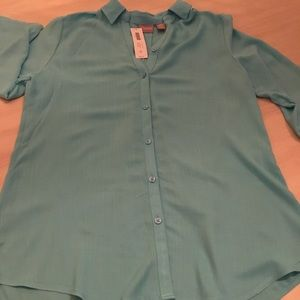 CHICO'S OUTLET SOFT CROSSHATCH TUNIC SHIRT